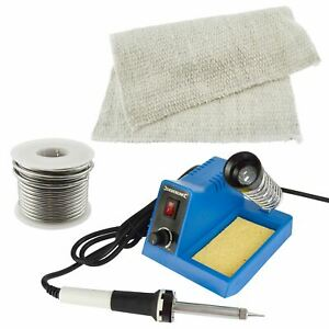 Soldering Iron Kit Electric Solder Stand Base Station Flux Wire Protective Mat