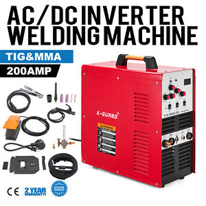 200amp Ac dc Tig stick mma Inverter Welder Stainless Steel W Foot Pedal