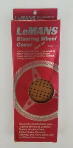 Vintage Nos Lace On Steering Wheel Cover Lemans Nib Made In Italy