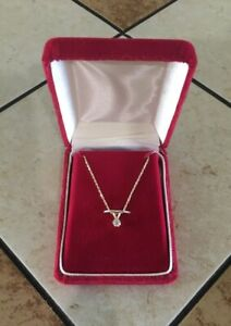 COCA COLA - 30 YEARS Employee Service Award 14k Gold Necklace W/Diamond Pendan