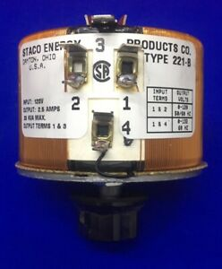 Staco Energy 221 b Variable Autotransformer Transformer