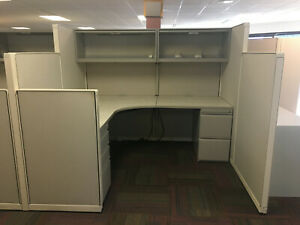 Used Steelcase Office Cubicles Worksations 6x6 5 6x9