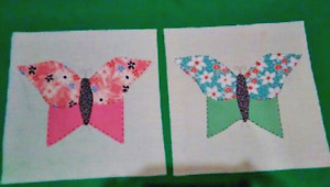 20 Vintage Feedsack Butterfly Quilt Blocks Mid Century Farmhouse 1940s 50s