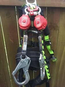 Miller Aircore Honeywell Full Body Harness Universal Size Plus 6ft Retractable