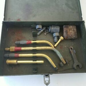 Gas Welding Torch Tips Parts And Box Oxygen Oxy Acetylene Torch Welder Tools