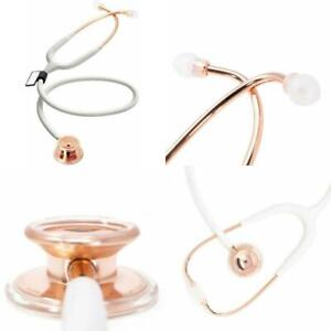 Stethoscope Rose Gold Md One Stainless Steel Premium Dual Head Free parts for li