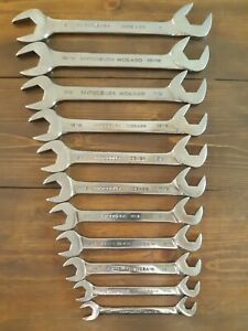 Matco Tools 4 Way Angle Head Wrench 11pc Set Four Way Angle 3 8 To 1 Sae