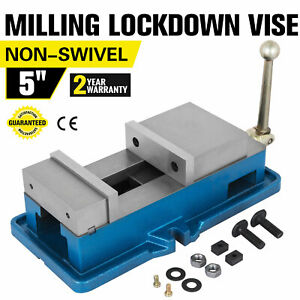 5 Non swivel Milling Lock Vise Bench Clamp Hardened Metal Drilling 125mm Open