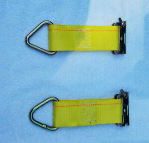 4 E Track Tie Down 2 Straps 2500 Lb Each 8 Long Motorcycle Atv Furniture