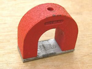 Alnico 5 Horseshoe Power Magnet Red 10 Oz General