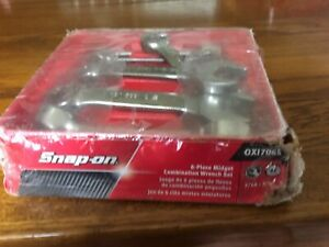 Brand New Snap On Tools Oxi706b 6 Pc Midget Combination Wrench Set 7 16 3 4