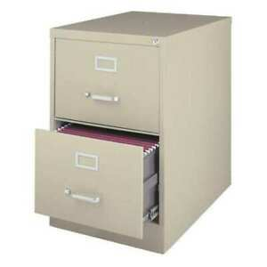 Hirsh 14412 25 Deep Vertical Legal Size 2 Drawer File Cabinet Putty