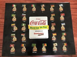 Collectible Coca-Cola 1994 World Cup Pins-Collection. FULL SET IN CASE - '94