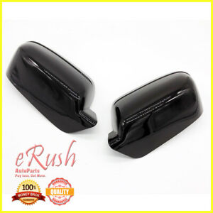For 2006 2011 Ford Fusion 2pcs Glossy Black Mirror Cover Overlay Top Half Milan