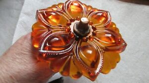 2 Antique Glass Curtain Amber 4 Curtain Tie Backs With Hardware 1920 30 S