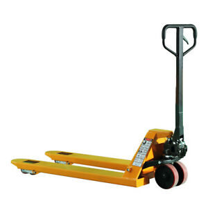 Manual Pallet Jack Truck With 6600 Lbs Capacity 27 w X 45 l Fork