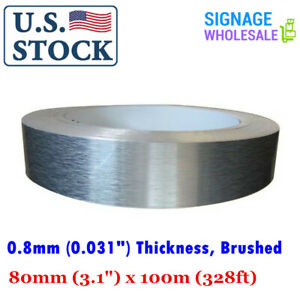 Usa 80mm 3 1 X 100m 328ft Roll Aluminum Tape Flat Coil Without Folded Edge