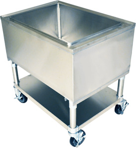 21 X 24 Stainless Steel Mobile Ice Bin