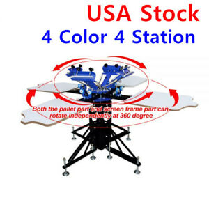 4 Color 4 Station Screen Printing Machine T shirt Screen Printing Press Printer