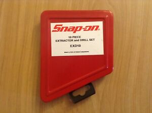 Snap on 10 Piece Drill extractor Set Exd10 New