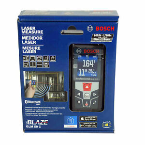 Bosch Glm 50 C Bluetooth Enabled 165 Ft Laser Distance Measure