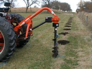 Land Pride Pd25 Post hole Digger With 6 And 9 Augers And Rolling Storage Cart