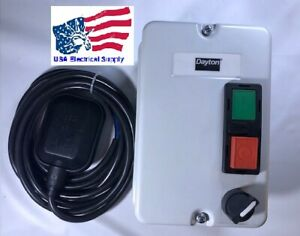 Dayton 1hp Level Control Panel Water Pump Automatic Manual 240vac 9a 3ph