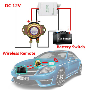 Dc 12v Car Battery Switch Wireless Remote Control Disconnect Power Master Kill