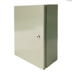 12 X 8 X 6 In Carbon Steel Electrical Enclosure Cabinet 16 Gauge Ip65
