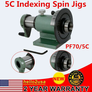 5c Collet Spin Indexing Fixture For Grinders Milling Machines 1 1 8 Collet