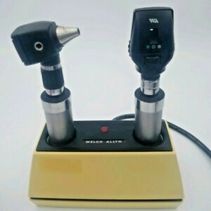 Welch Allyn 3 5v 71110 Desk Charger W 11720 Ophthalmoscope 25020 Otoscope