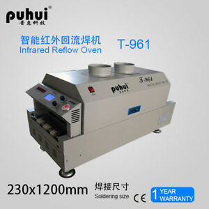 New Led T961 Reflow Oven Bga Smt Sirocco Rapid Infrared Soldering Machine T