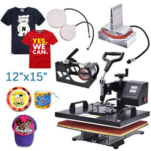 12 x15 heat Press Machine Digital Sublimation T shirt Mug Plate Hat Upgrade 5in1
