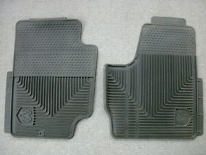 Dodge Ram Black Front Slush Floor Mats W Logo