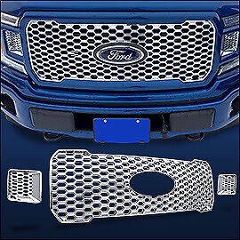 Chrome Grille Overlay 3 Pcs Fits 2018 2019 2020 Ford F150 Xl W Stx Package
