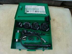 Greenlee 7310 1 2 4 Inch Hydraulic Knockout Punch And Die Set 6 17 2