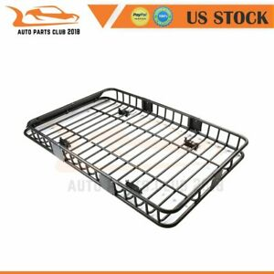Carries Universal 64 Black Roof Rack Extension Cargo Luggage Hold Basket 3pcs