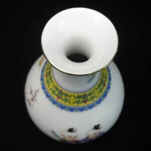 Rare Fine Chinese Old Hand Painting Kids Porcelain Vase Yongzheng Mark