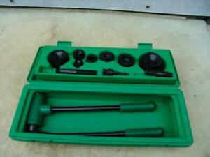 Greenlee 1806 1 2 To 2 Inch Knockout Punch Set Works Great