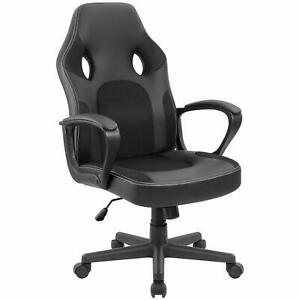 Furmax Office Chair Desk Leather Gaming Chair High Back Ergonomic Adjustable Ra