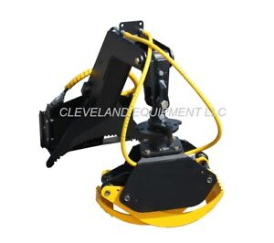 New Multi purpose Log Grapple Attachment Mini Skid Steer Track Loader Rotating