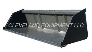 66 Bulk Material Bucket Snow Mulch Litter Skid steer Tractor New Holland Kubota