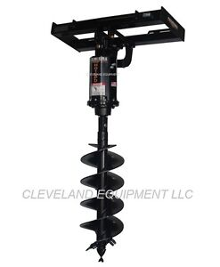 New Premier H015 Hydraulic Auger Drive Attachment Skid steer Loader Holland Cat