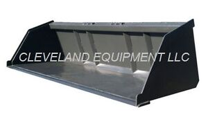 84 Bulk Material Bucket Snow Mulch Litter Skid steer Tractor New Holland Kubota