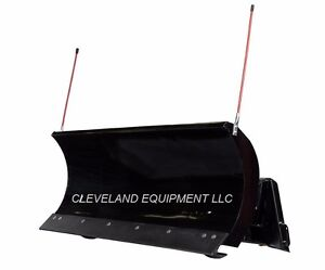 New 72 Premier Snow Plow Attachment Skid Steer Loader Hydraulic Angle Blade 6