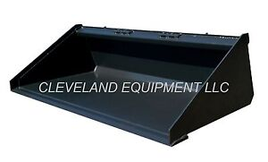 New 84 Low Profile Long Bottom Bucket Skid steer Track Loader Attachment 7