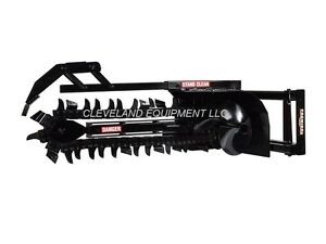 New Premier T150 Trencher Attachment 48 X 6 Bobcat Skid steer Loader 15 25 Gpm