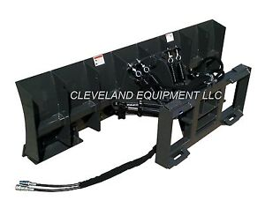 New 96 Snow Plow Dozer Blade Attachment Skid Steer Loader Hydraulic Angle 8
