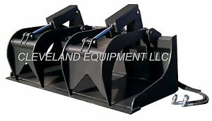 New 72 Grapple Bucket Skid Steer Loader Attachment Gehl Cat Asv Posi Track Jcb