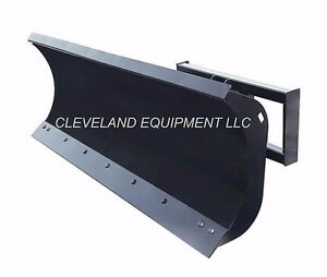 New 72 Hd Snow Plow Attachment Skid steer Loader Angle Blade Bobcat Kubota 6